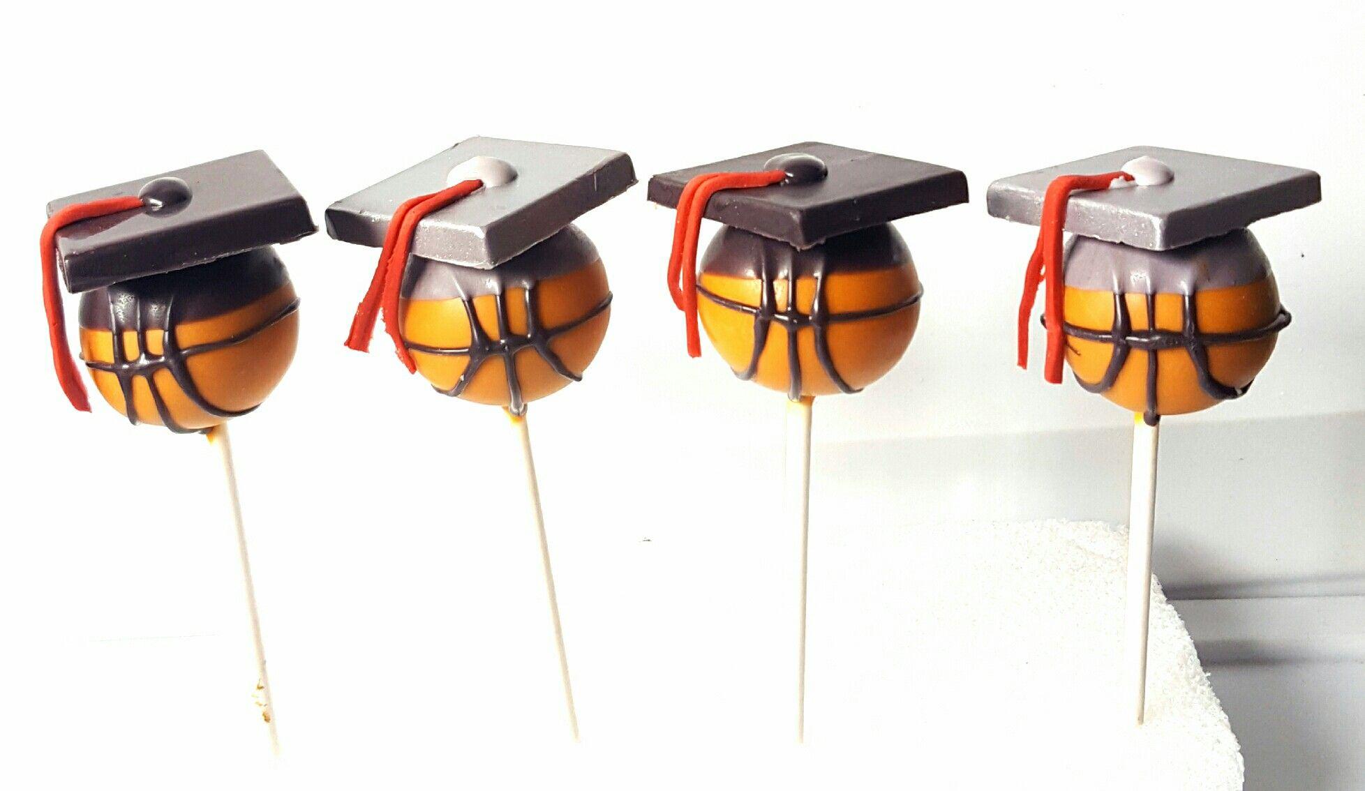 Basketball graduation cake pops graduation cake pops