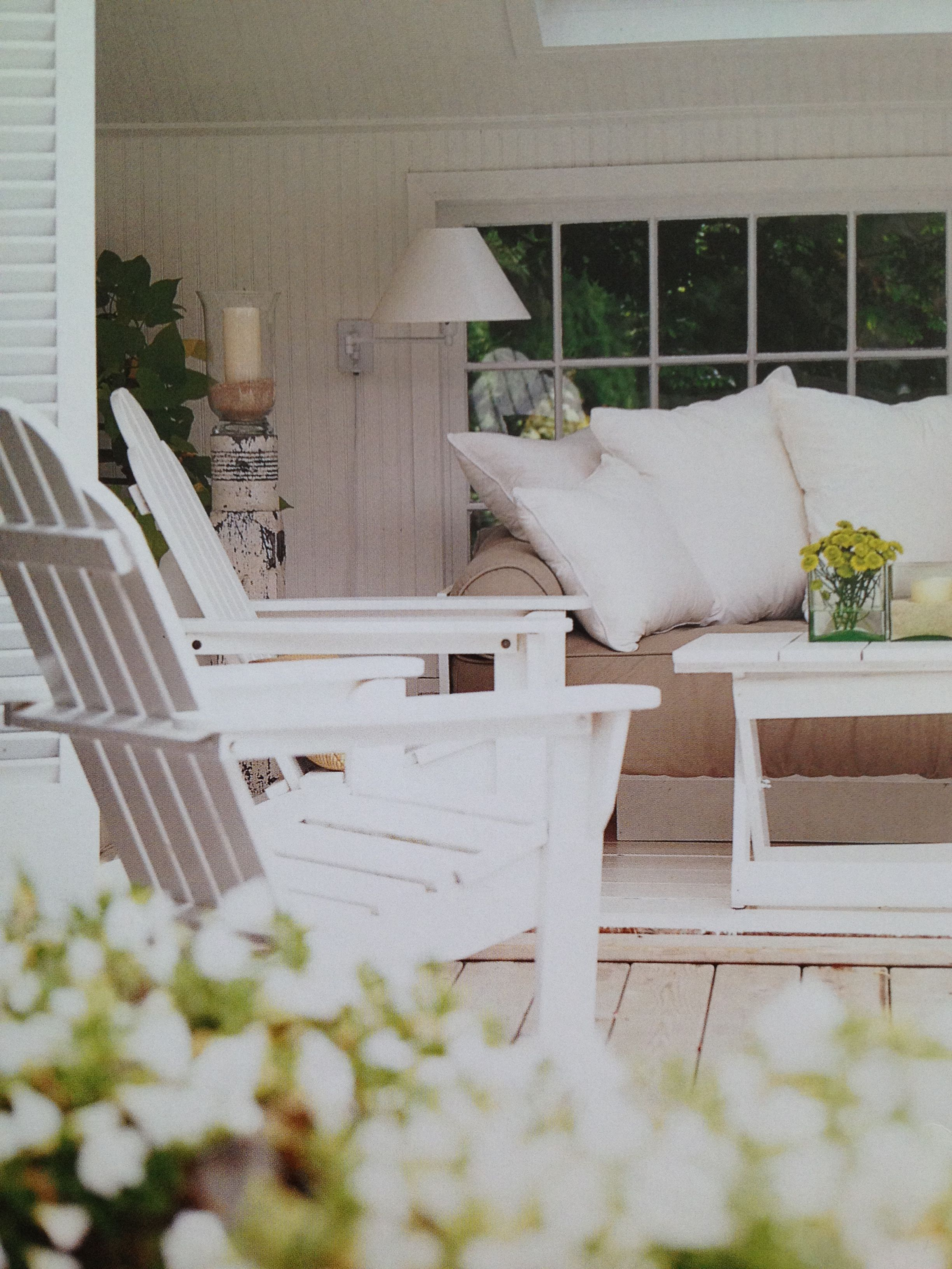 muskoka chairs couch outdoor living room  pottery barn