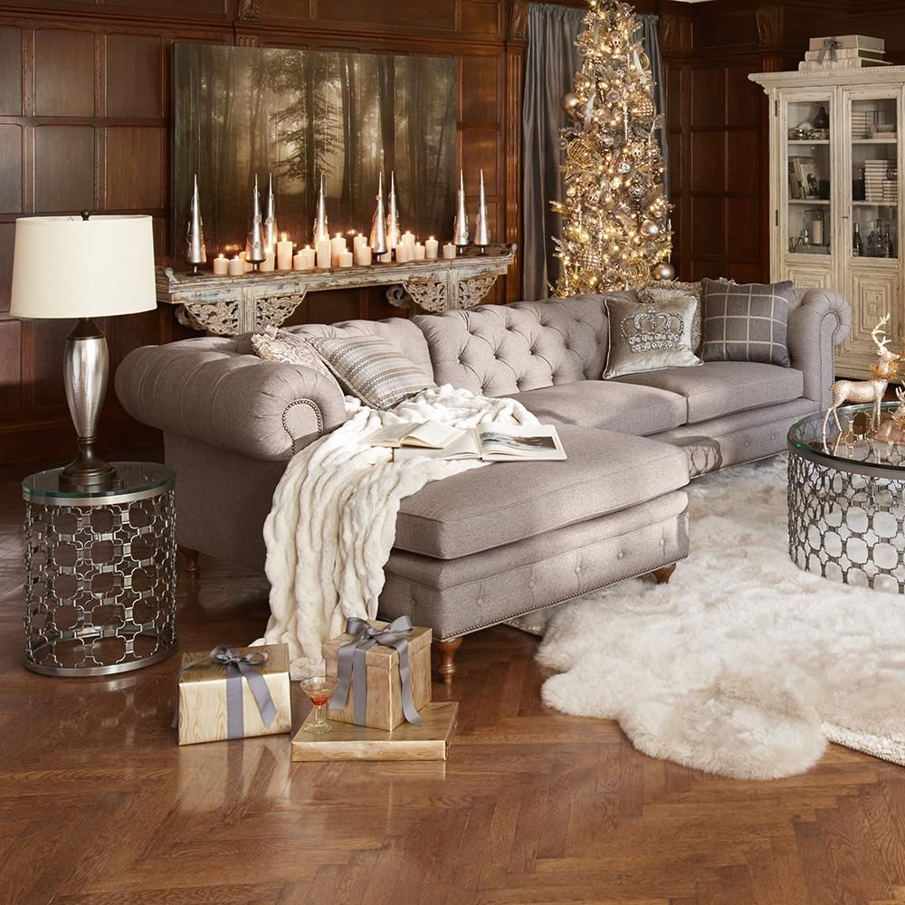 The Wessex Sectional Is As Beautiful As It Is Irresistibly Comfortable Living Room Furniture Interior Design Living Room Decor