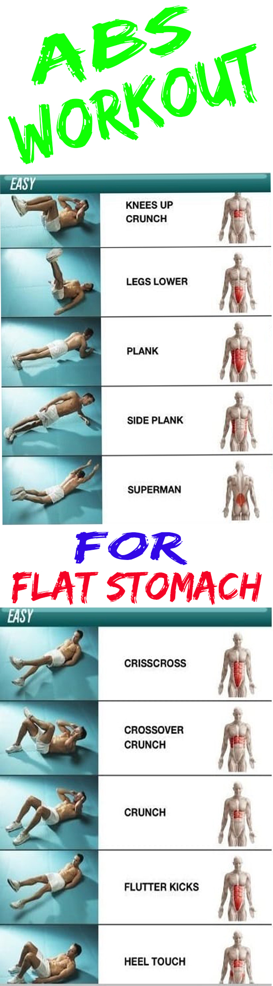 Easy abs workout for a firmer flat stomach easy ab workouts for