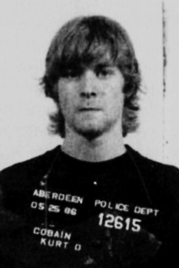 Kurt Cobain at 19, arrested for spray painting \