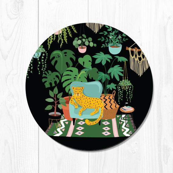 Mouse Pad Leaves Mousepad Tropical Mouse Pad Leopard Office