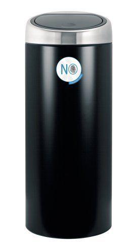 Brabantia 30 Liter Touch Bin.Brabantia 378744 30 Liter Touch Bin Matte Black By Brabantia