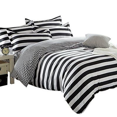 Zebra Stripe Single Duvet Covers Cosy Comfortable Quilt Covers Bedding Sets With Striped Duvet Covers Black Bedding Bed Covers