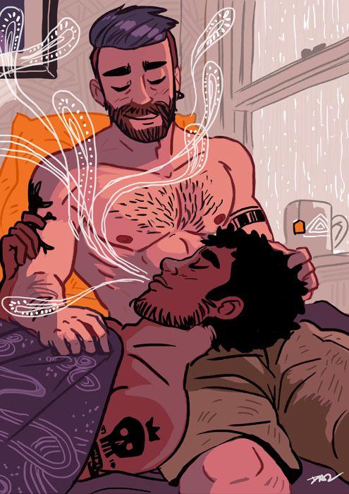 Romantic Men, Gay Art, Gays, Box, Gay Comics, Heart Illustration,