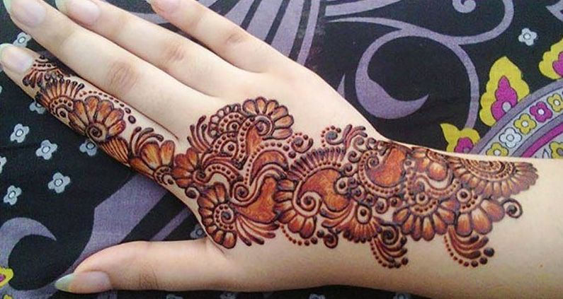Simple Glitter Mehndi Design 25 Beautiful Modern Mehndi Designs 2018