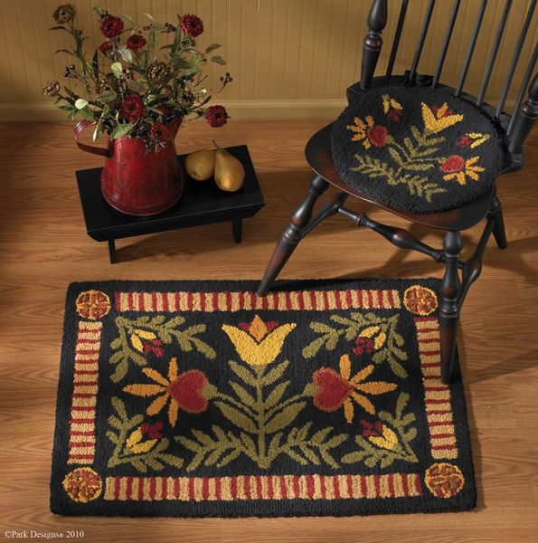 Rug Hooked Chair Pad On Pinterest Chair Pads Rug