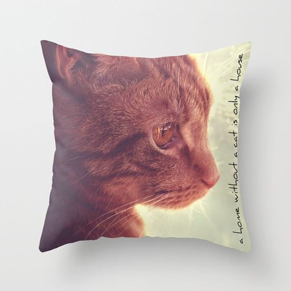 Cat Pillow Cover Indoor Throw Pillow Cover Throw by AboutMoments