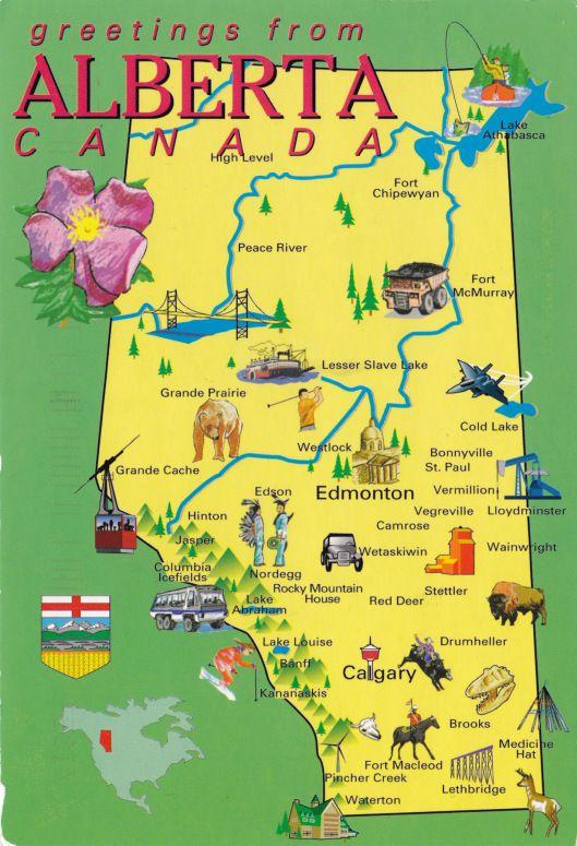 Posts About Alberta On Deltiolog Alberta Travel Canada Map Alberta Canada