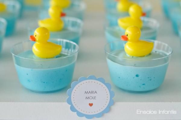 Party Frosting: Rubber Ducky Baby Shower Ideas And Inspiration Jello Or  White Pudding With Blue Food Coloring With Duckies On Top! And Somewhat  Affordable