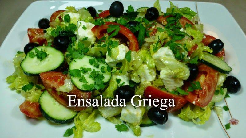 Ensalada Griega | cocina | Pinterest | Ensalada griega, Horno de ...
