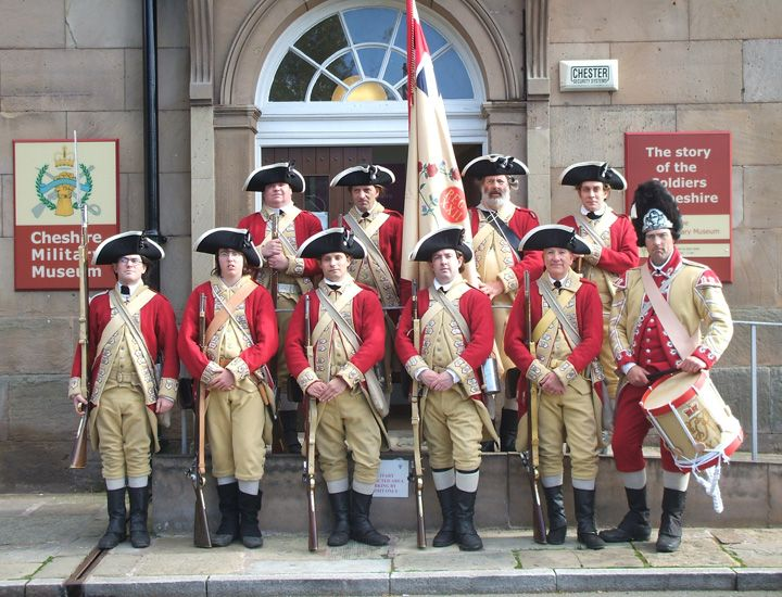 22nd Regiment of Foot (the Cheshires) outside the regimental museum 2011