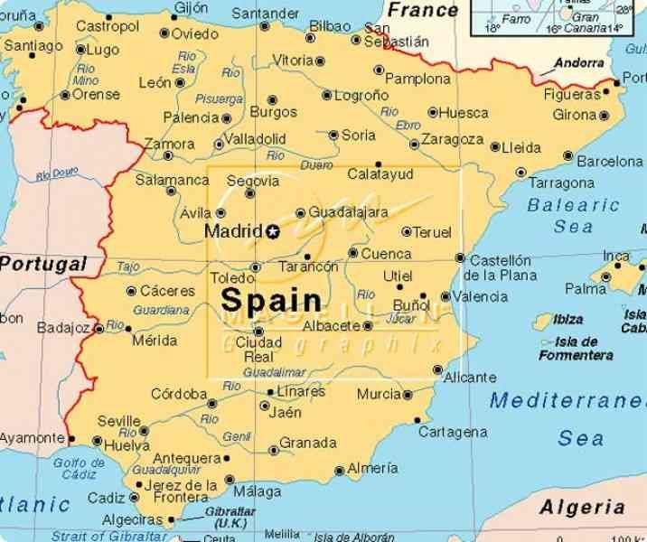 nice Map Of South Spain Holidaymapq Pinterest Spain Nice map and Trail