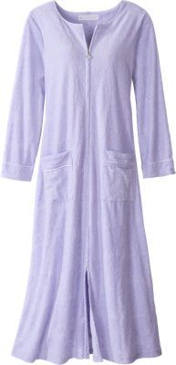 Eileen West Pamper-Perfect Velour Robe With Full Front Zipper ... 4ccb0df22