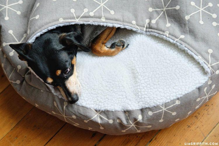 How To Make A Diy Burrow Dog Bed Diy Dog Bed Diy Pet Bed Diy Cat Bed