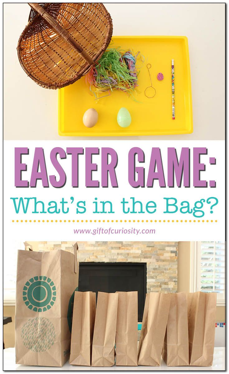 Easter game for kids | What's in the bag? | Easter fun for children | Easter sensory activity | Easter sensory play | Simple Easter activity || Gift of Curiosity