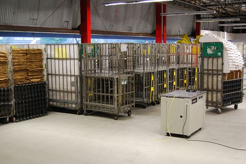 Mail Cages (GPMC's) That Hold trays Of Mail To Be Sorted ...