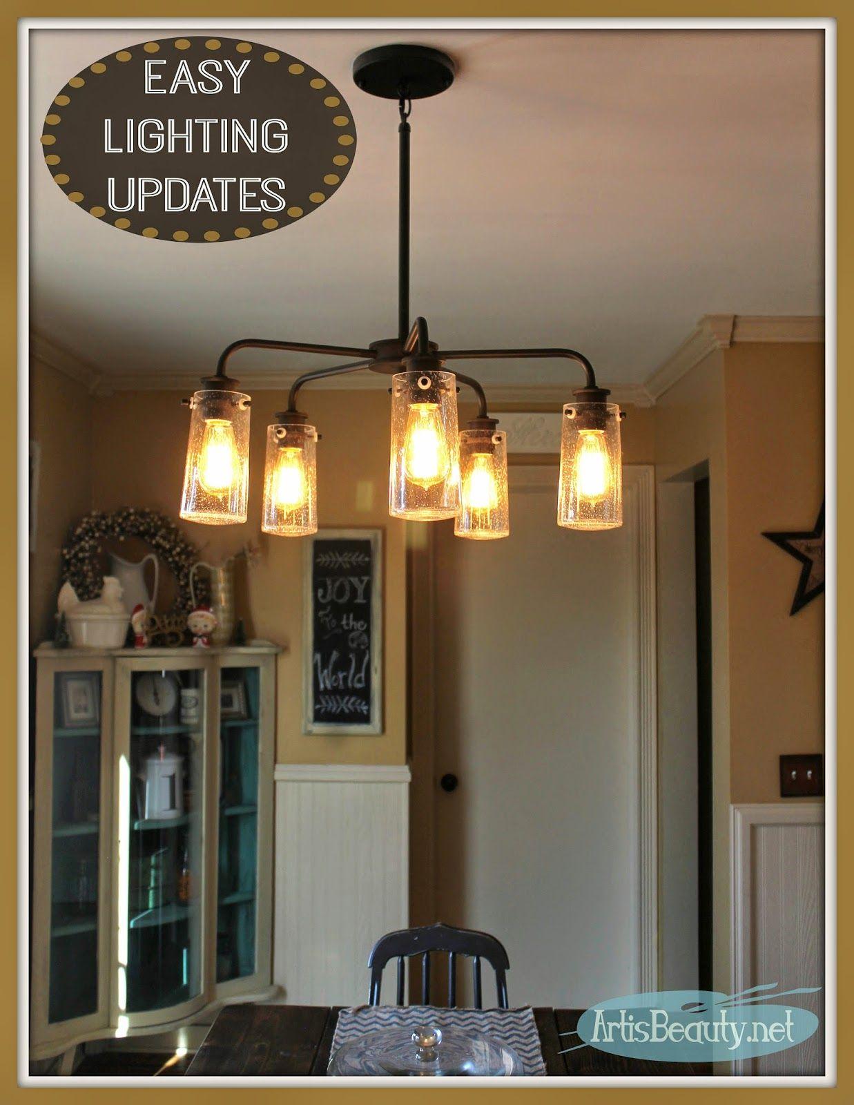 Vintage Style Kitchen Lighting Update! Buh Bye Boob Light