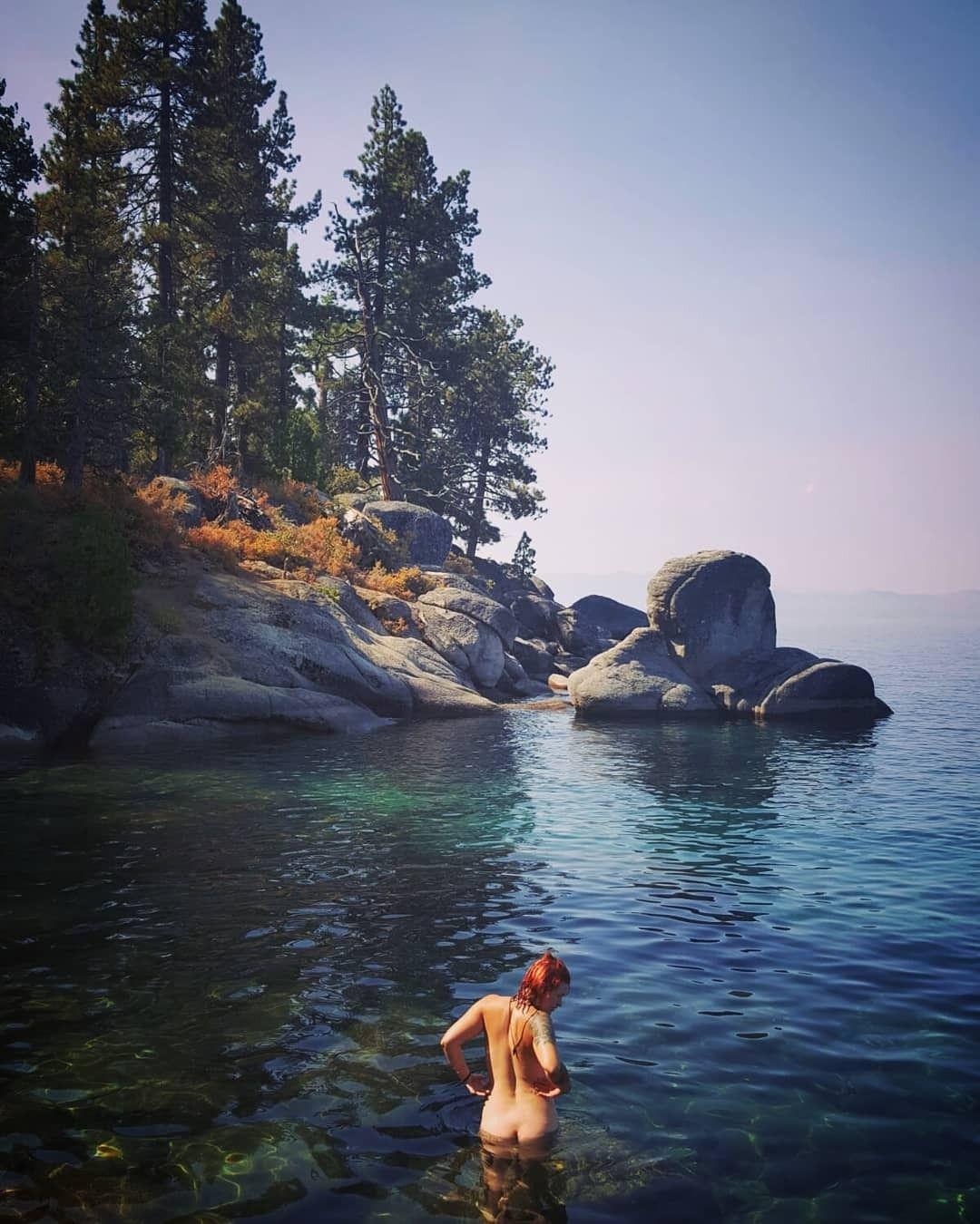 Morning Swim At Lake Tahoe Lake Tahoe Tahoe Lake