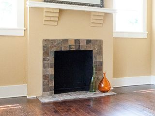 Tiled fireplace and Fire places