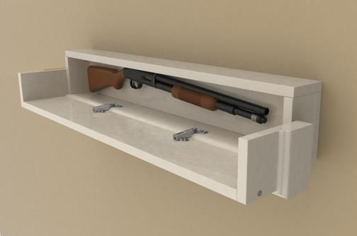 how to make this easy to build diy floating shelf with a secret compartment gun safe this. Black Bedroom Furniture Sets. Home Design Ideas