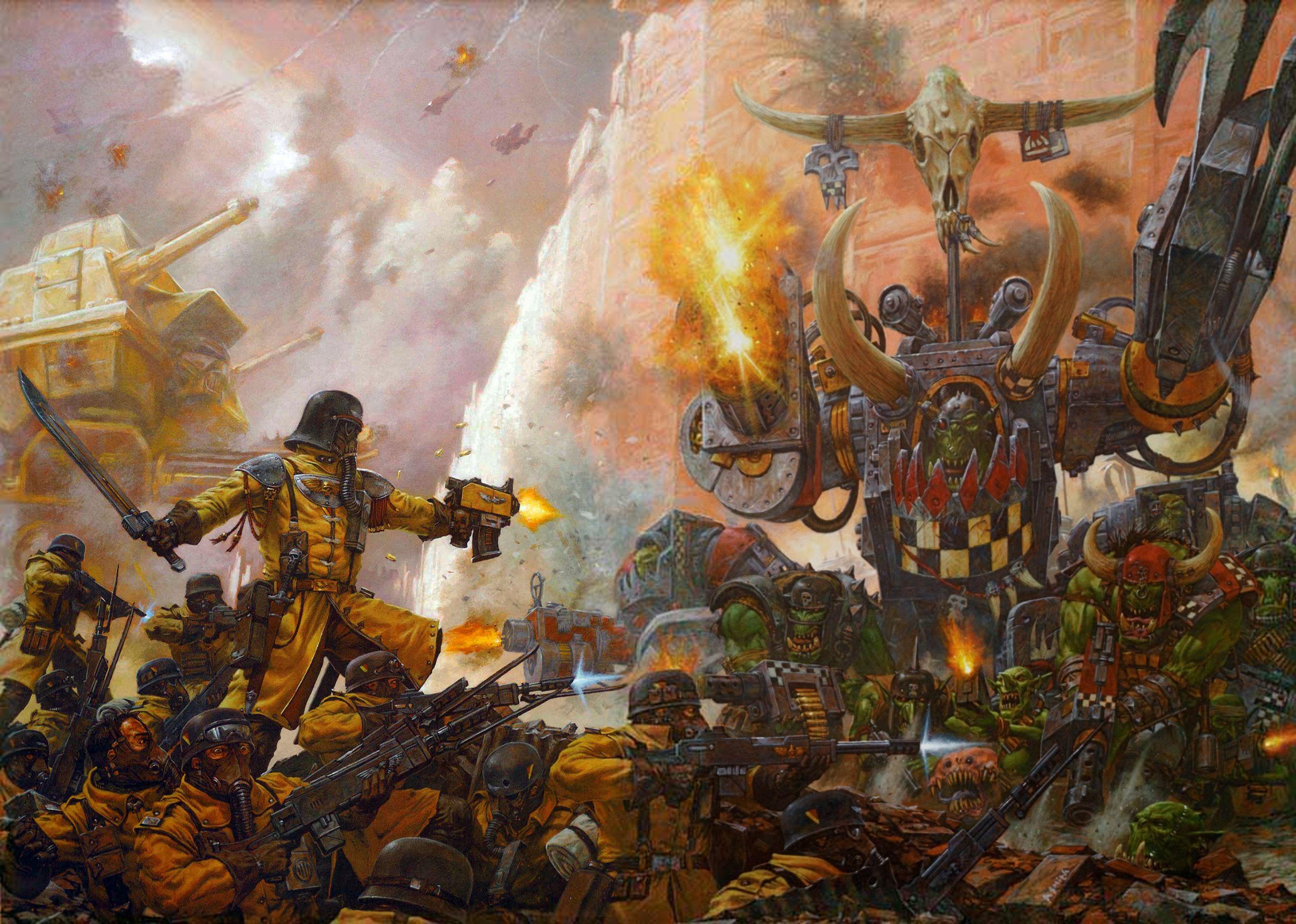 Armageddon Steel Legion Warboss Thraka   Warhammer 40k ... - photo#13