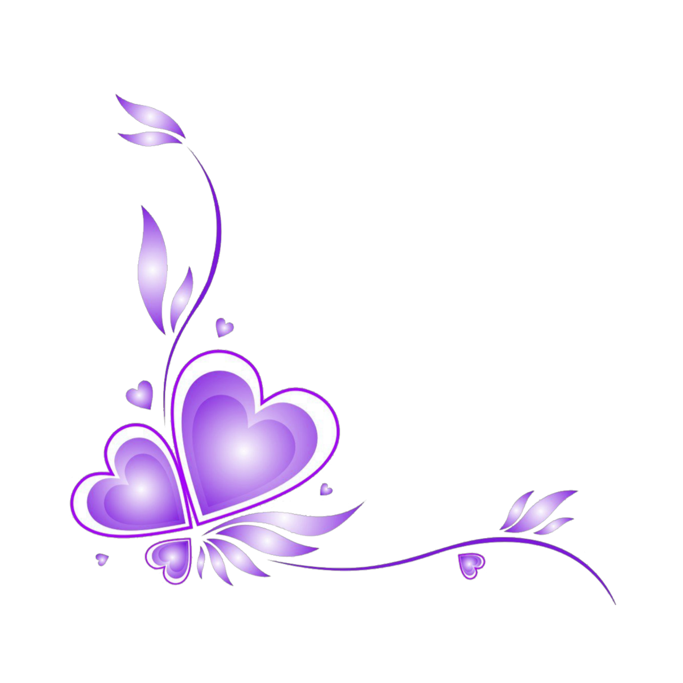 Pin By Abril On Picsart Love Stickers Purple Love Vector Border Lotus Flower Tattoo