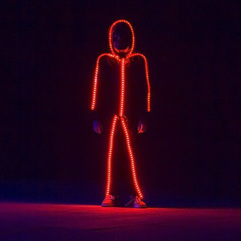led stick figure costume glow with shock and awe costumes halloween costumes and stick figure costume - Halloween Led Costume