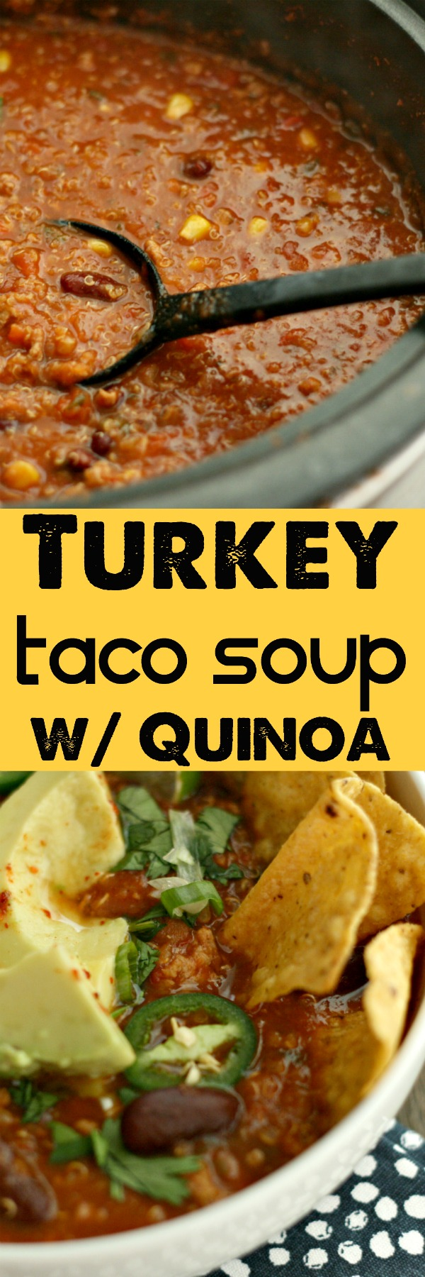 Switch up your Taco Tuesday with this Slow-Cooker Turkey Taco Soup using @randallbeans and Quinoa! YUM!   http://randallbeans.com/2016/10/13/slow-cooker-turkey-taco-soup/