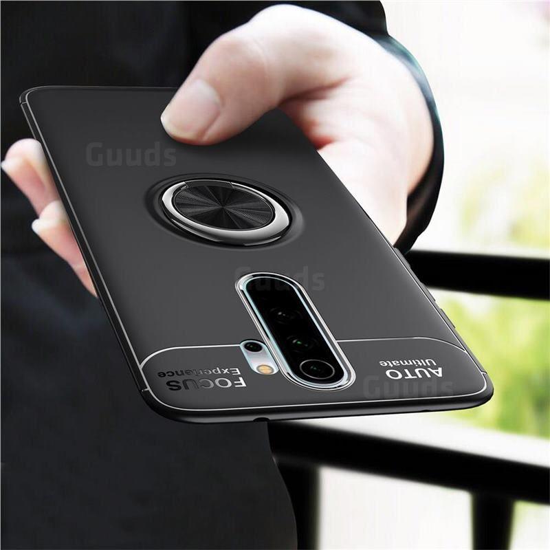 Auto Focus Invisible Ring Holder Soft Phone Case For Mi Xiaomi Redmi Note 8 Pro Black Xiaomi Redmi Note 8 Pro Cases Guuds Ring Holder Oneplus Phone Cases