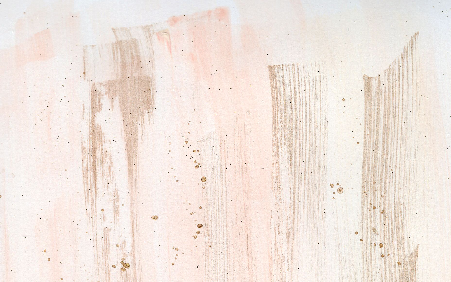 Watercolour Coral Blush Gold Brushstroke Desktop Wallpaper Background