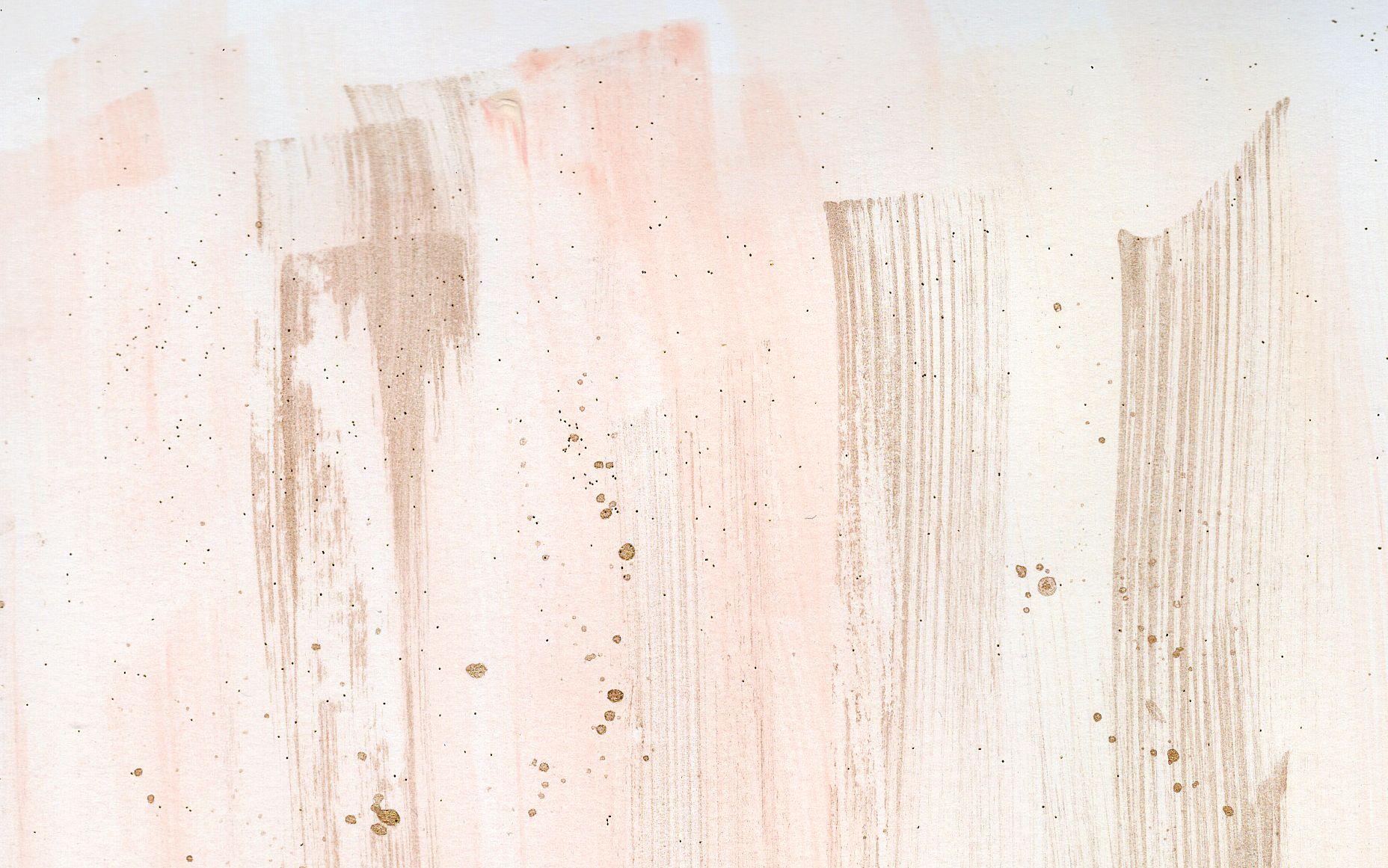 Watercolour coral blush gold brushstroke desktop wallpaper background