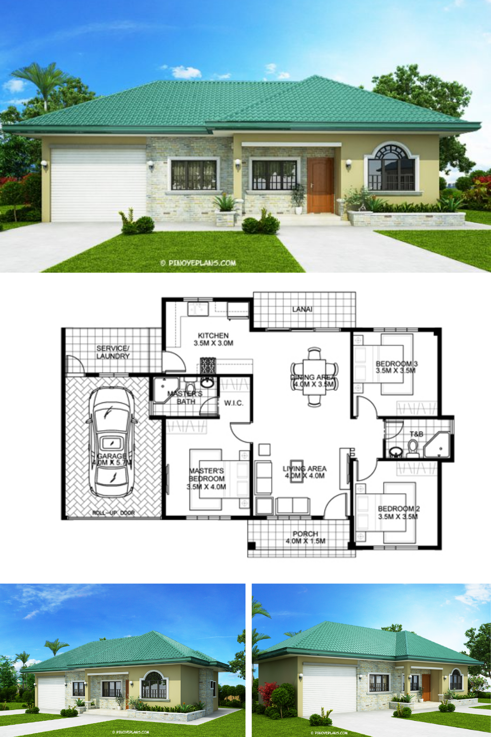 One Storey Bungalow House With 3 Bedrooms Pinoy Eplans In 2020 House Construction Plan House Plan Gallery Modern Bungalow House