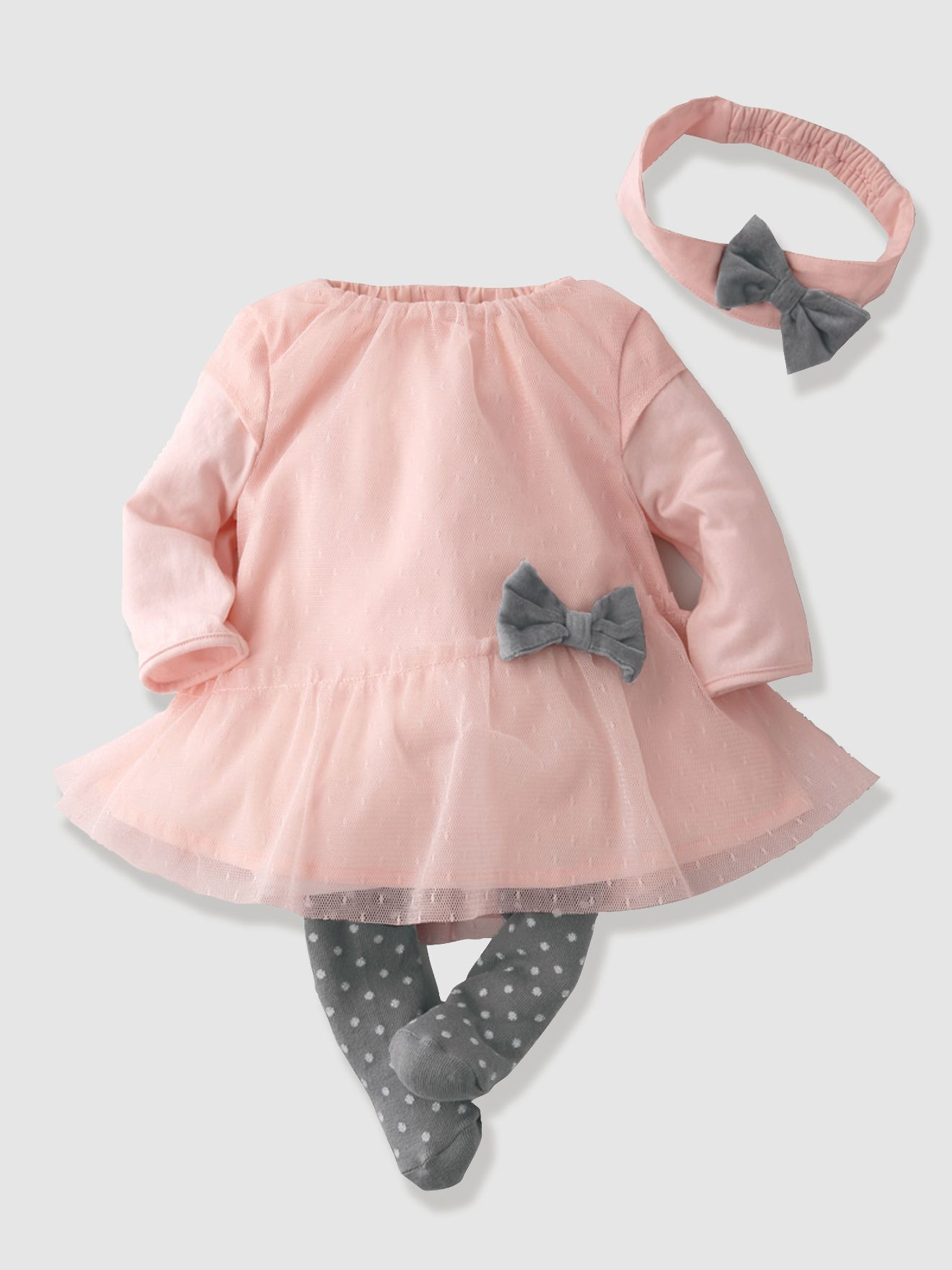 7b30c142c Conjunto adorable 3 prendas para las bebés más coquetas