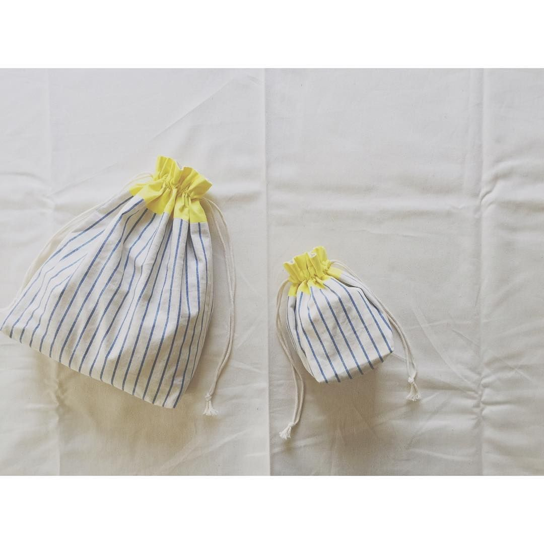 お弁当袋にもちょっと入れるのにちょうどいいオリジナル巾着袋の作り方