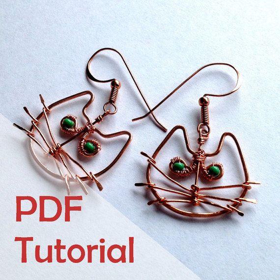 Cute cat earrings tutorial wire jewelry tutorial instant pdf cute cat earrings tutorial wire jewelry tutorial instant pdf download keyboard keysfo Choice Image