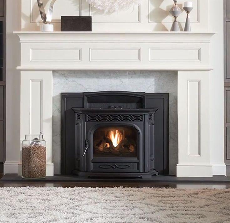 Pellet stove fire place insert; pellet stove insert for ...