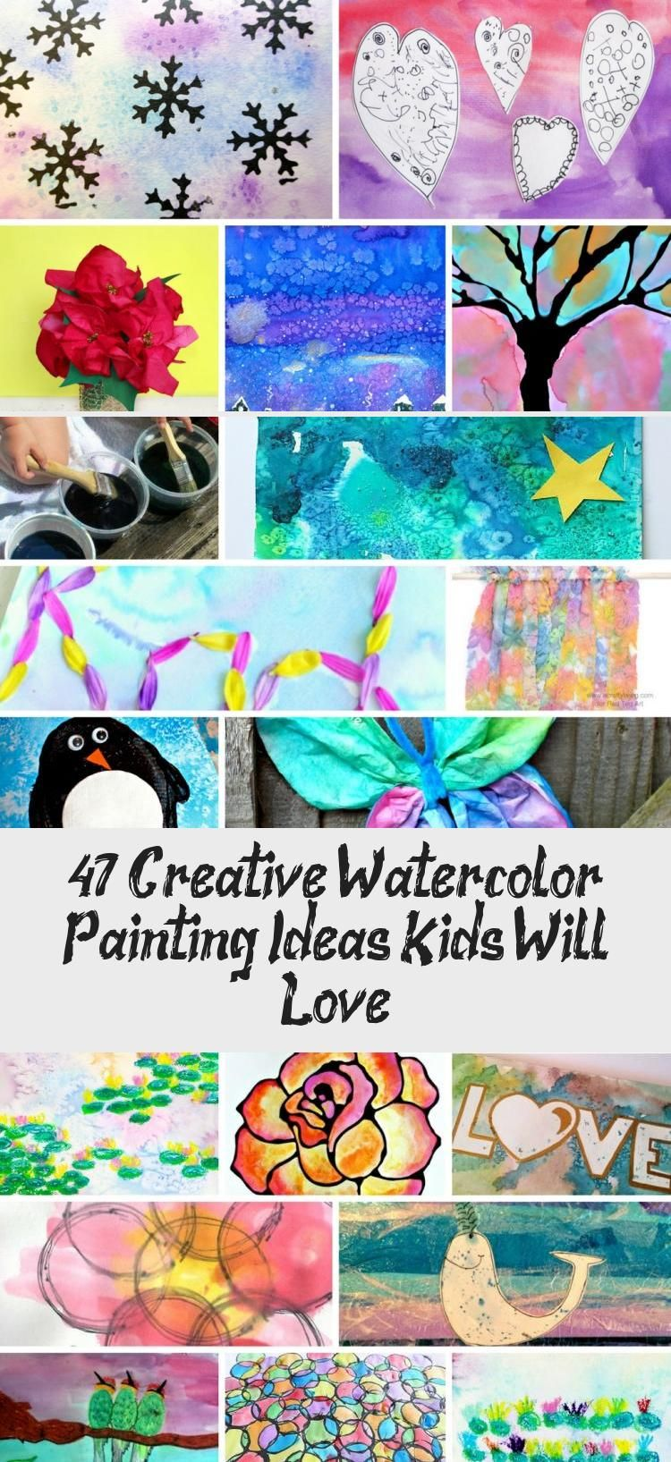 47 Creative Watercolor Painting Ideas Kids Will Love In 2020