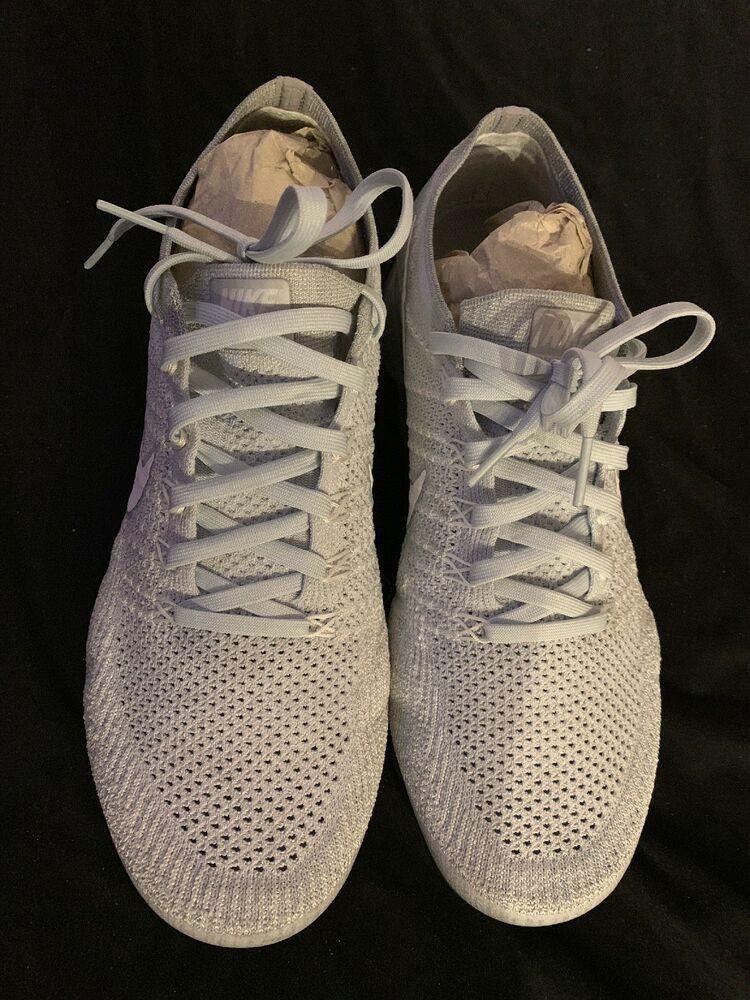 749c44845ff5a Nike Flyknit Pure Platinum White Grey Mens 10.5 Vapoermax