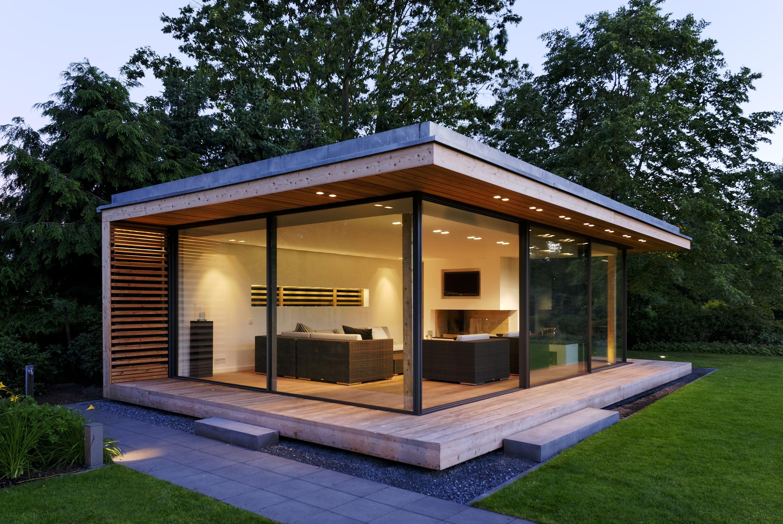 Krenzer Glashaus mit minimal windows Gartenpavillion