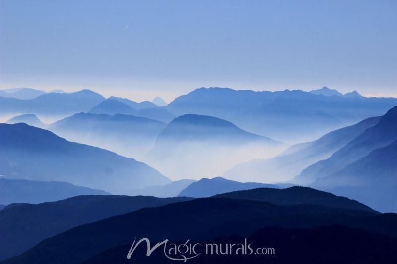 Blue Mountain Gradient Landscape Wallpaper Nature Wall Art Landscape Photos