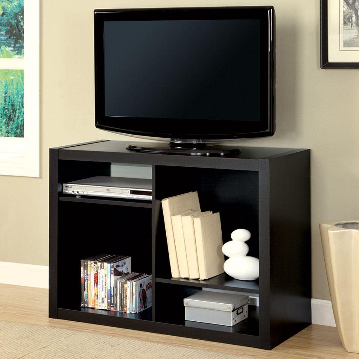 Monarch Specialties I 2520 38 In Tv Console Bookcase Lowe S  # Muebles Sencillos Para Tv