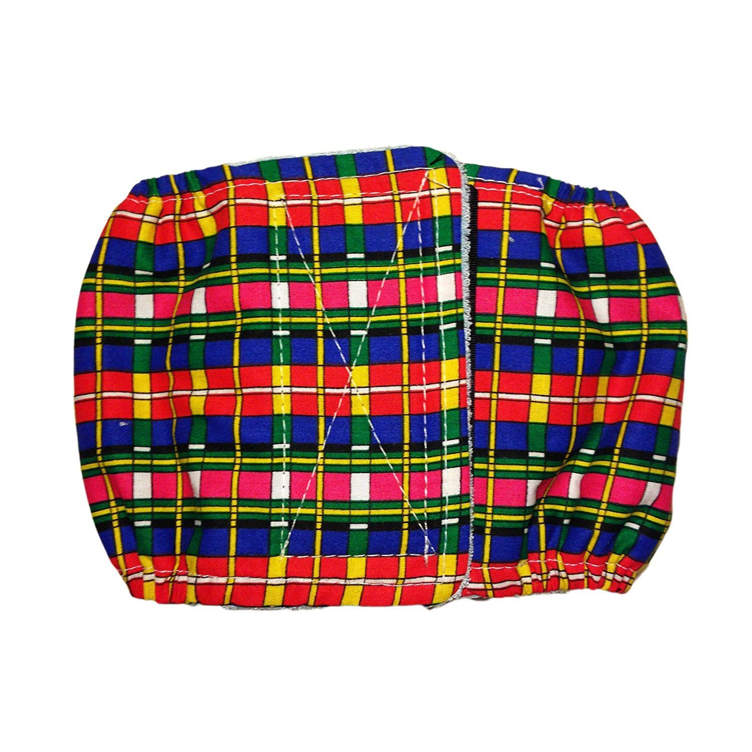 Male Dog Diaper Made in USA Red and Blue Check Plaid