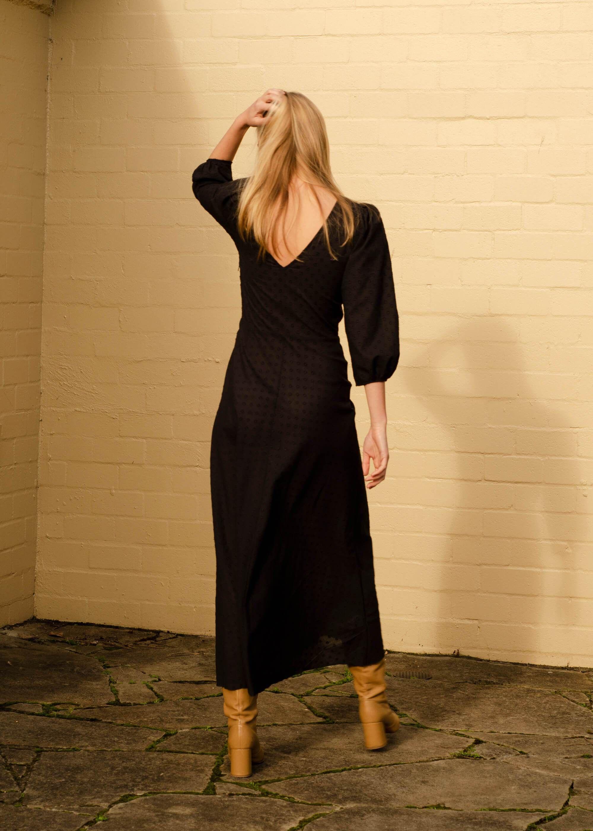 Robin Dress Black Polka Penny Sage Dresses Black Dress Slip Dress [ 2800 x 2000 Pixel ]