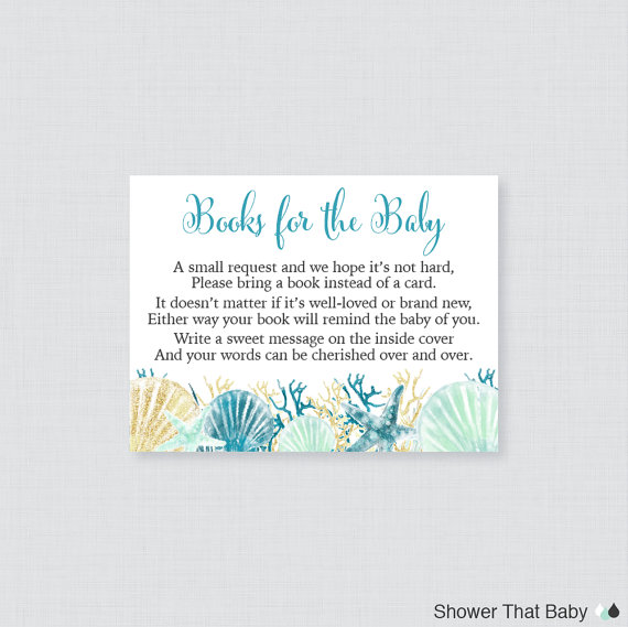 Beach Theme Card Stock: Nautical Baby Shower Printable Bring A Book Instead Of A