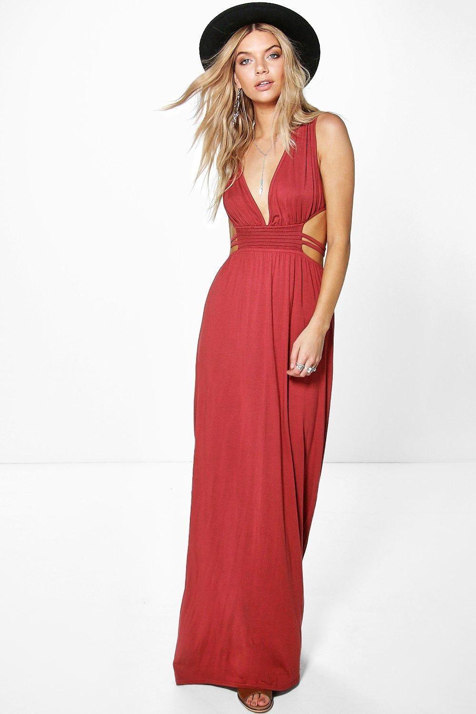 363a8868db7 Ava Rouched Waist Band Maxi Dress