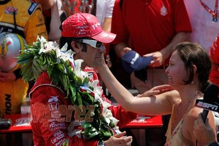 Ashley Judd's Husband Wins The Indy 500 For THIRD TIME!