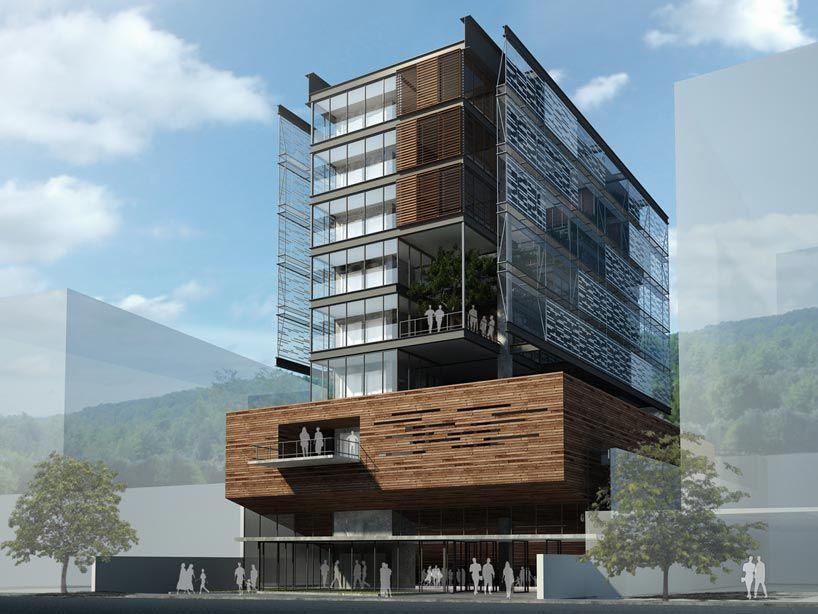 Maqueta estructural en madera balsa para edificios torres for Edificios minimalistas