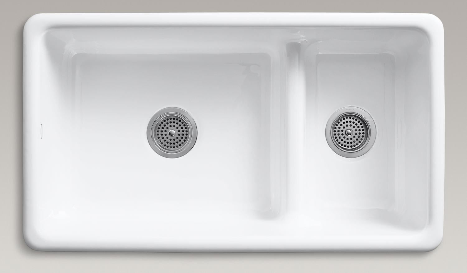 white kitchen stainless steel sink | ... white-ceramic-double-bowl ...