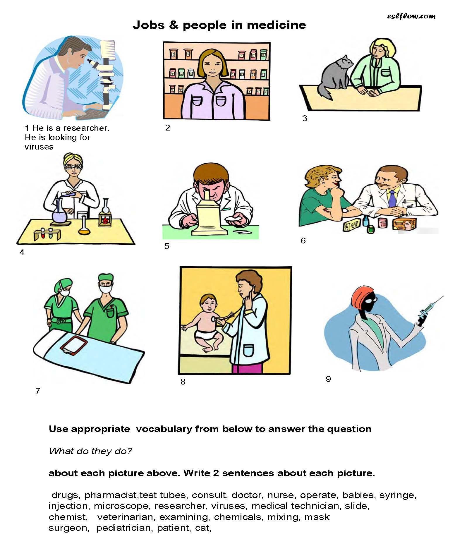 Medication Vocabulary Worksheet For Kids